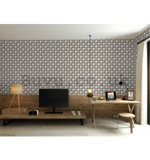 Vinyl wallpaper retro irregular shapes (3)