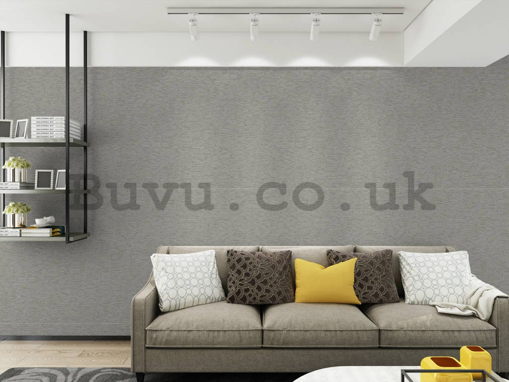Vinyl wallpaper structured shade of gray (3)