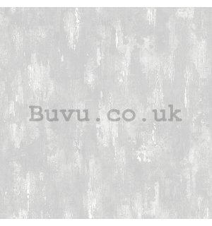 Vinyl wallpaper light gray-white plaster (1)