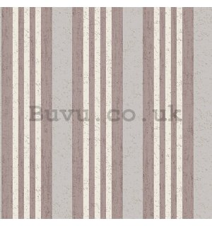 Vinyl wallpaper vertical stripes shades purple-biege