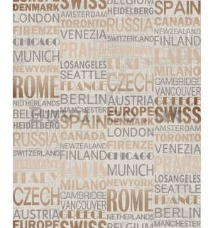 Vinyl wallpaper countries and cities