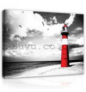 Painting on canvas: Lighthouse (2) - 80x60 cm