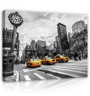 Painting on canvas: New York (Taxi) - 80x60 cm