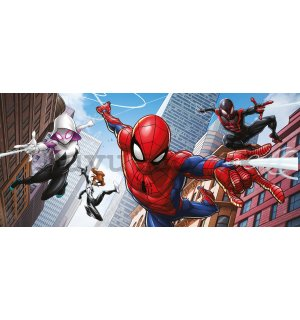 Wall mural vlies: Spiderman Spider-Verse (2) - 202x90 cm