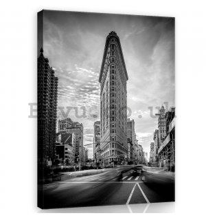 Painting on canvas: Flatiron Building (black and white) - 100x75 cm