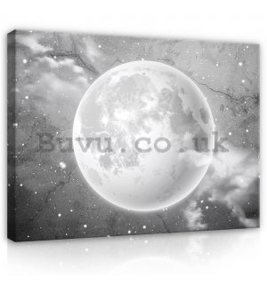 Painting on canvas: Moon in the sky (1) - 100x75 cm
