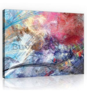 Painting on canvas: Modern abstraction (4) - 80x60 cm