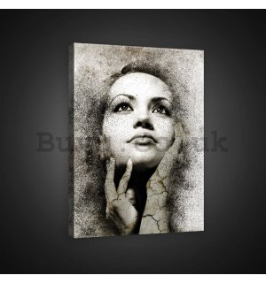 Painting on canvas: Portrait of a woman (1) - 60x80 cm