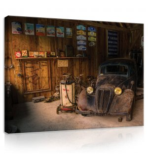 Painting on canvas: Garage - 80x60 cm