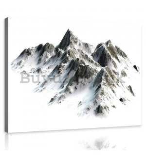 Painting on canvas: Snowy mountains - 80x60 cm