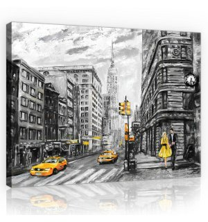 Painting on canvas: New York (painted) - 80x60 cm