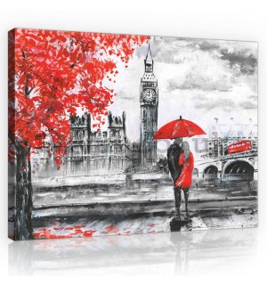 Painting on canvas: London (painted) - 80x60 cm