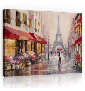 Painting on canvas: Eiffel tower (painted) - 80x60 cm