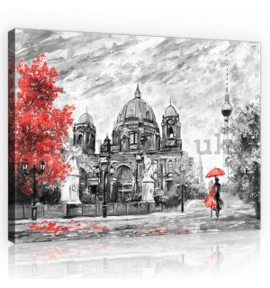 Painting on canvas: Berlin (painted) - 80x60 cm