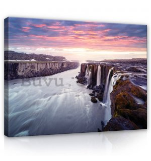 Painting on canvas: Selfoss, Iceland - 80x60 cm