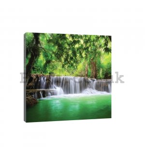 Painting on canvas: Waterfall (3) - 80x60 cm