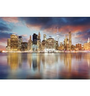 Wall mural vlies: Reflection of New York (1) - 254x368 cm