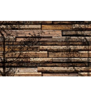 Wall mural vlies: Shaded boards - 416x254 cm