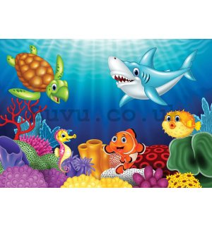 Wall Mural: Children's underwater world - 368x254 cm