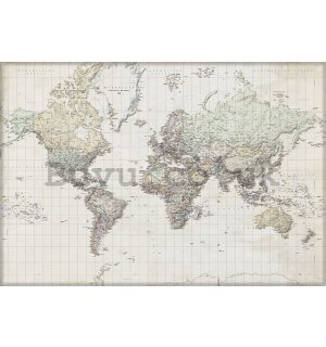 Wall Mural: Map of the world (6) - 368x254 cm