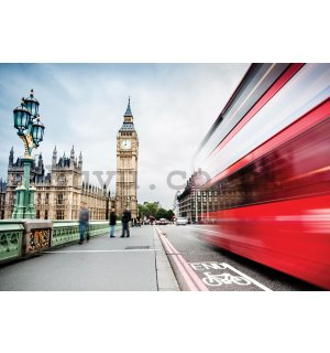 Wall Mural: Big Ben and London bus - 254x184 cm
