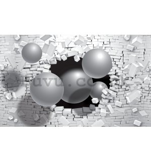 Wall mural: Spheres from a wall (1) - 254x184 cm