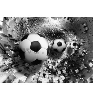 Wall mural vlies: Soccer and puzzle - 200x140 cm