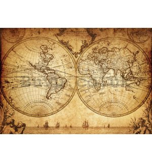Wall mural vlies: Ancient map - 400x280 cm
