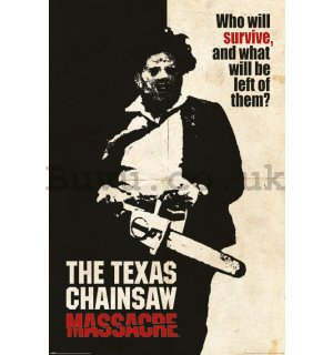 Poster - Texas Chainsaw Massacre (Who Will Survive?)