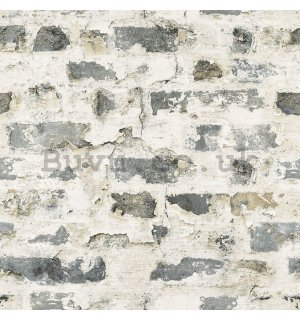 Vinyl wallpaper brick spotty