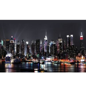 Wall Mural: New York at night (2) - 184x254 cm