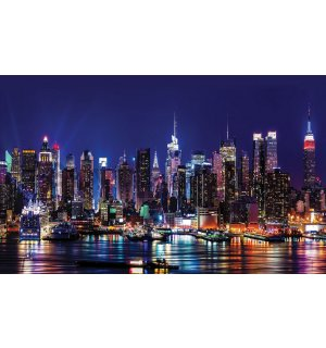 Wall Mural: City lights (2) - 184x254 cm
