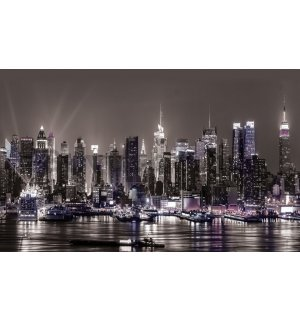 Wall Mural: New York at night - 254x368 cm