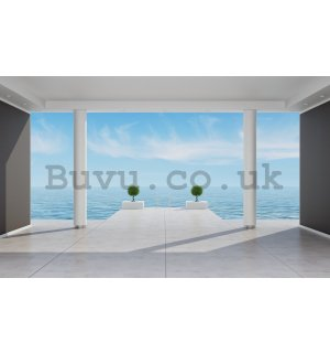 Wall Mural: Sea view (terrace) - 254x368 cm