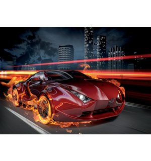 Wall Mural: Red car - 184x254 cm