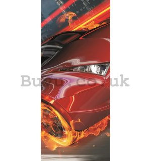 Wall Mural: Red car  - 211x91 cm