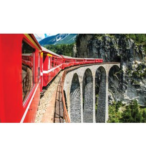Wall Mural: Mountain train - 184x254 cm