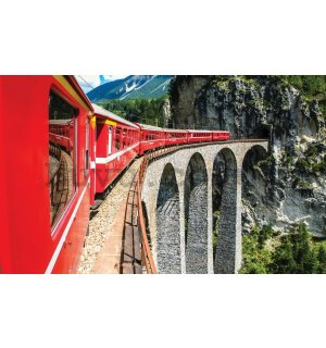 Wall Mural: Mountain train - 254x368 cm