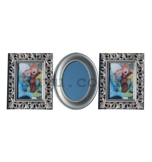Photo frame - 3 windows, 5x7 cm (Silver)