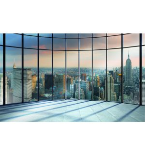 Wall Mural: View from window to New York - 254x368 cm