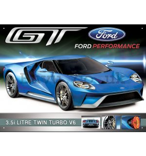 Metal sign - Ford GT