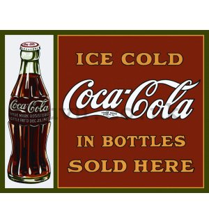 Metal sign: Coca-Cola (sold here) - 30x40 cm