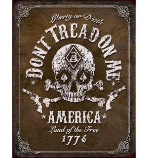 Metal sign - Do not Tread On Me (Blackjack)