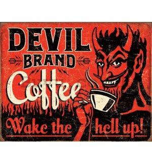 Metal sign - Devil Brand Coffee