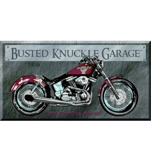 Metal sign: Busted Knuckle Garage - 22x40 cm