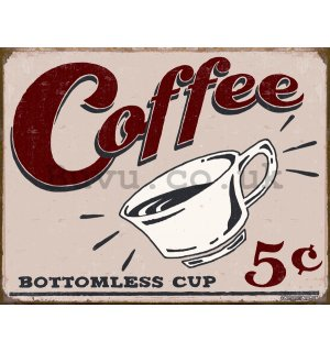Metal sign - Coffee 5c