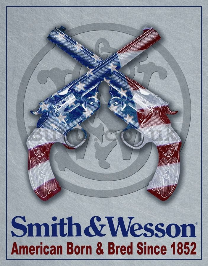 Metal sign - Smith & Wesson
