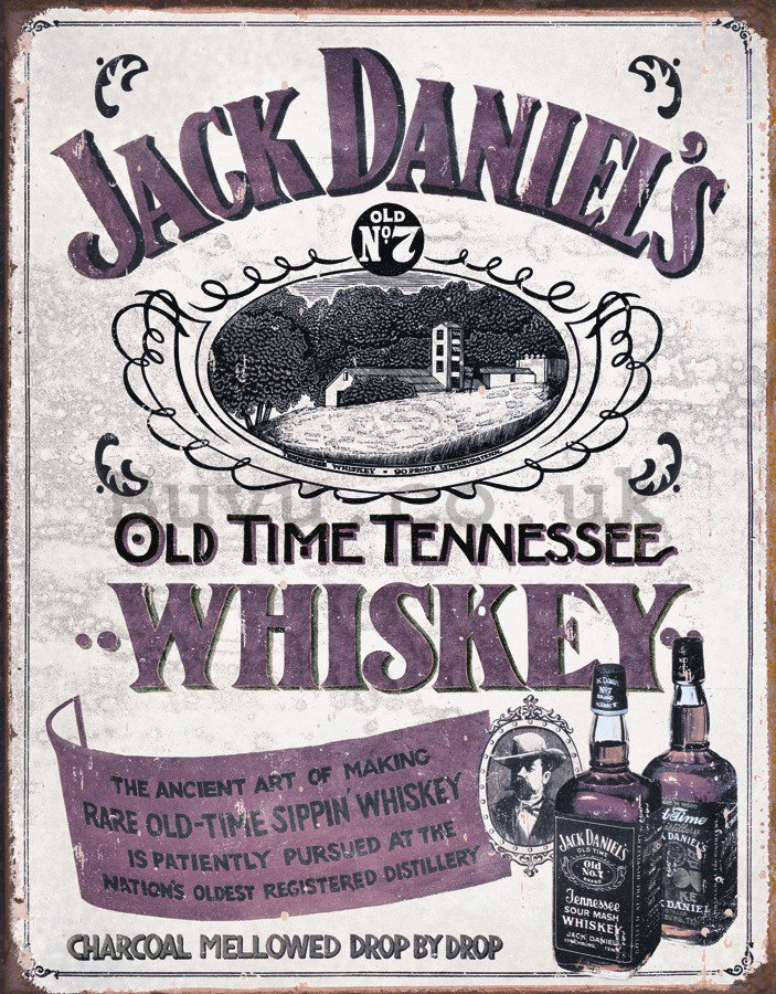 Metal sign - Jack Daniels (Retro Whiskey)