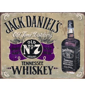 Metal sign - Jack Daniels (Bottle)