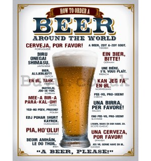 Metal sign - Beer (around the world)